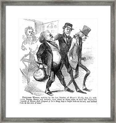 Civil War: Cartoon, 1861 Framed Print by Granger