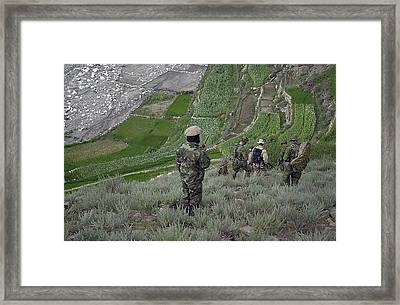 Coalition Soldiers From U.s. Canada Framed Print by Everett