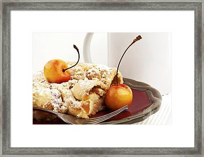 Coffee Cake Framed Print by Blink Images