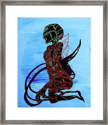 Dinka Bride - South Sudan Framed Print by Gloria Ssali
