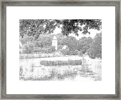 Duck Pond Dinkelsbuhl Germany Framed Print by Joseph Hendrix