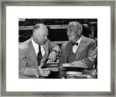 Dwight D. Eisenhower Framed Print by Granger