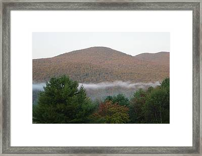 Early Autumn In Vermont Framed Print by Margrit Schlatter