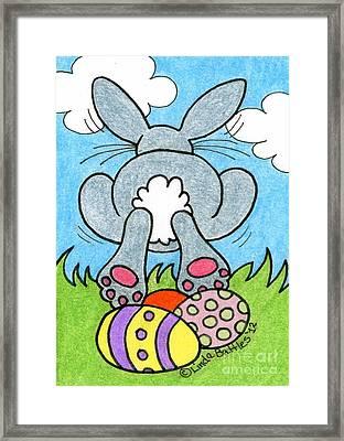Easter Bunny Retreat Framed Print by Linda Battles