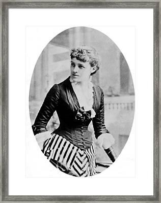 Edith Wharton, 1862-1937, American Framed Print by Everett