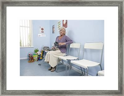 Elderly Patient Framed Print by Adam Gault