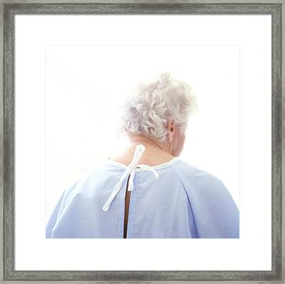Elderly Patient Framed Print by Cristina Pedrazzini