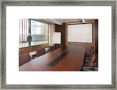 Empty Conference Room Framed Print by Jaak Nilson