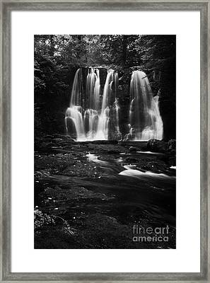 Ess-na-crub Waterfall On The Inver River In Glenariff Forest Park County Antrim Northern Ireland Uk Framed Print by Joe Fox