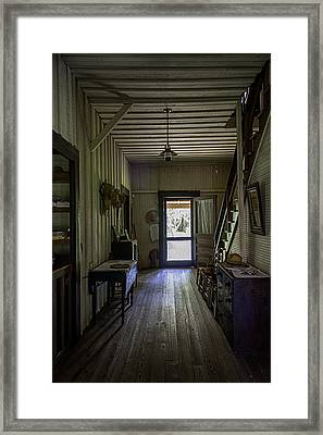 Farmhouse Entry Hall And Stairs Framed Print by Lynn Palmer