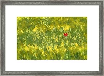 Field Framed Print by Odon Czintos