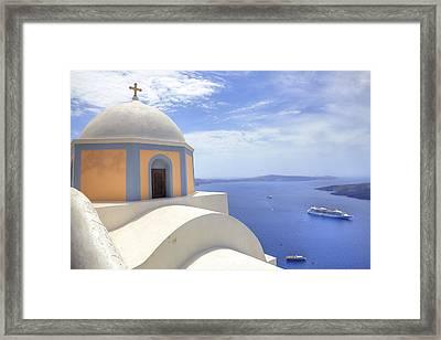Fira - Santorini Framed Print by Joana Kruse