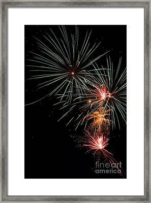 Fireworks Framed Print by Cindy Singleton