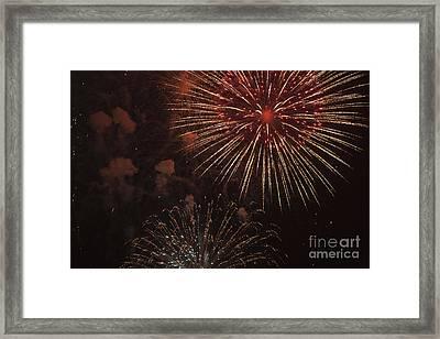 Fireworks Framed Print by Juan  Silva