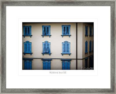 Florentine Shutters Framed Print by Doug Sturgess