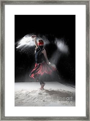 Flour Dancer Series Framed Print by Cindy Singleton