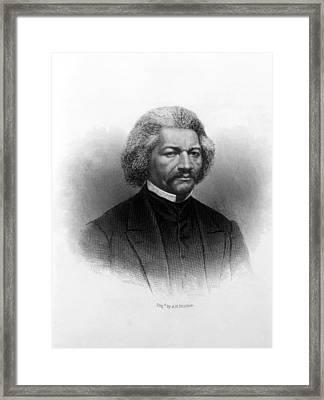 Frederick Douglass Ca 1817-1895 Framed Print by Everett