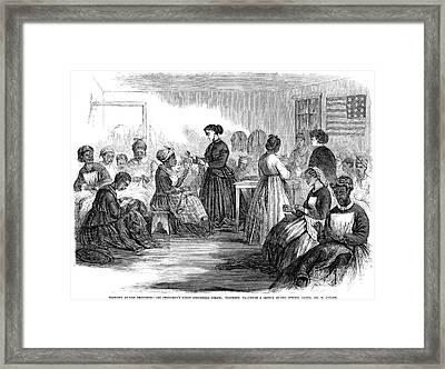 Freedmens School 1866 Framed Print by Granger