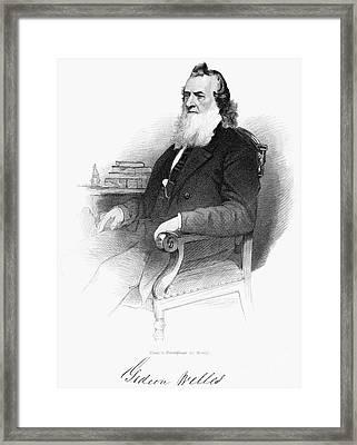 Gideon Welles (1802-1878) Framed Print by Granger