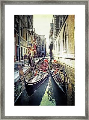 Gondolas Framed Print by Joana Kruse