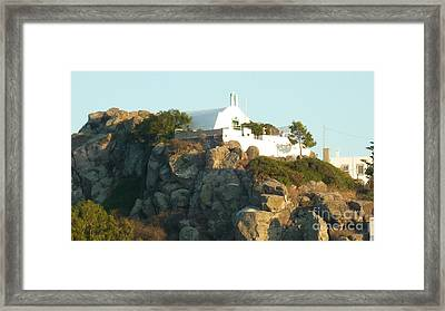 Greek Church Framed Print by Therese Alcorn