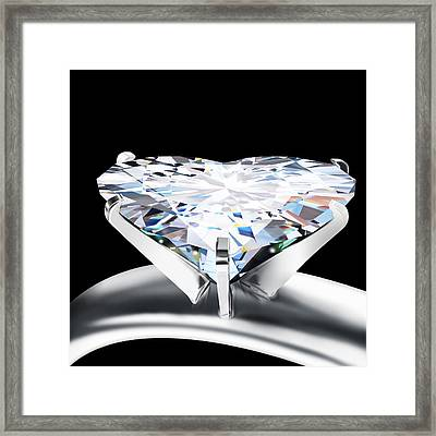 Heart Diamond Framed Print by Setsiri Silapasuwanchai