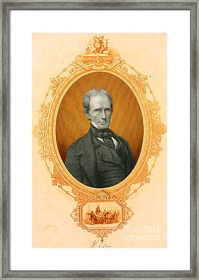 Henry Clay Sr., American Politician Framed Print by Photo Researchers