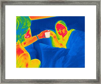 Hot Drink, Thermogram Framed Print by Tony Mcconnell