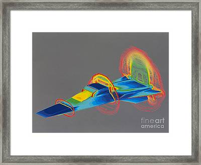 Hyperx Hypersonic Aircraft Framed Print by Science Source