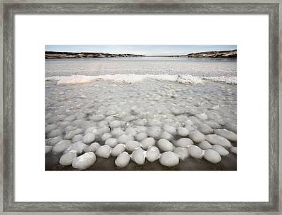 Ice Forming On Lake Framed Print by Mark Duffy