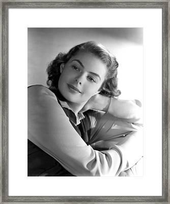 Ingrid Bergman, Portrait Framed Print by Everett