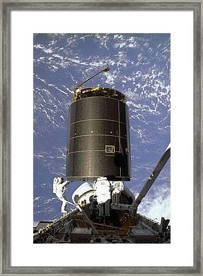 Intelsat Vi, A Communication Satellite Framed Print by Everett