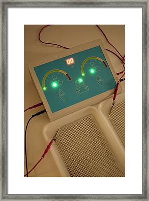Iontophoresis Equipment Framed Print by