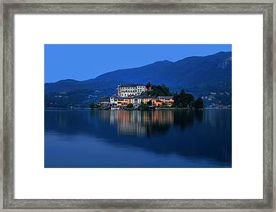 Island Of San Giulio On Lake Orta Framed Print by Joana Kruse