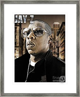 Jay Z Framed Print by The DigArtisT