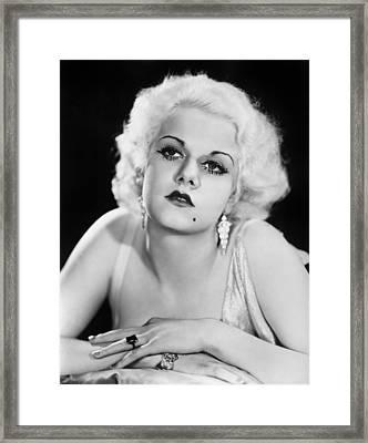 Jean Harlow (1911-1937) Framed Print by Granger
