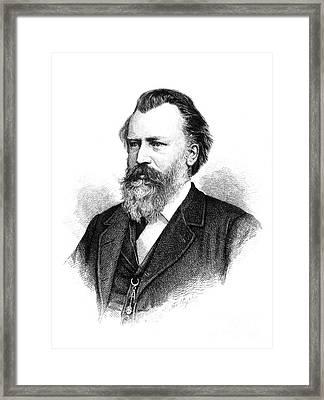 Johannes Brahms Framed Print by Granger