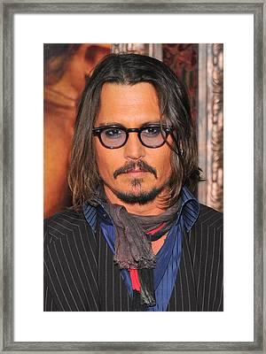 Johnny Depp At Arrivals For The Tourist Framed Print by Everett
