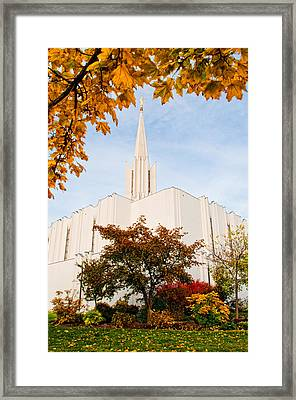 Jordan River Temple Framed Print by La Rae  Roberts
