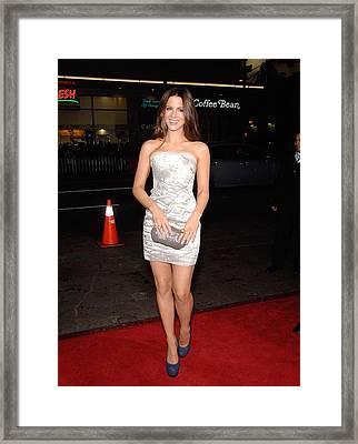 Kate Beckinsale Wearing A J. Mendel Framed Print by Everett