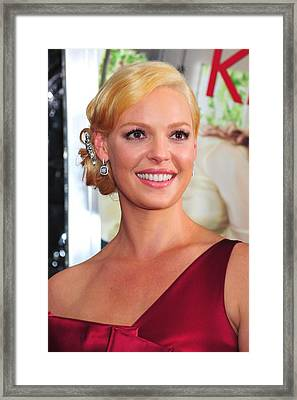 Katherine Heigl At Arrivals For Life As Framed Print by Everett