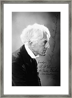 Kenesaw Mountain Landis Framed Print by Granger