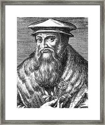 Leonhart Fuchs, German Botanist Framed Print by Science Source