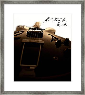 Let There Be Rock Framed Print by Christopher Gaston
