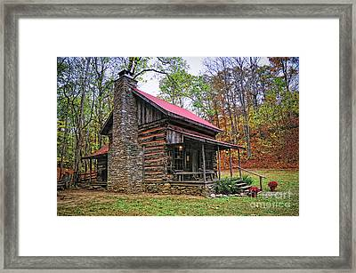 Log Home Renfro Valley Ky Framed Print by Anne Kitzman