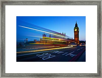 London Big Ben Framed Print by Nina Papiorek