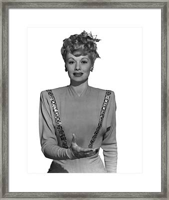 Lucille Ball, Ca. Mid-1940s Framed Print by Everett