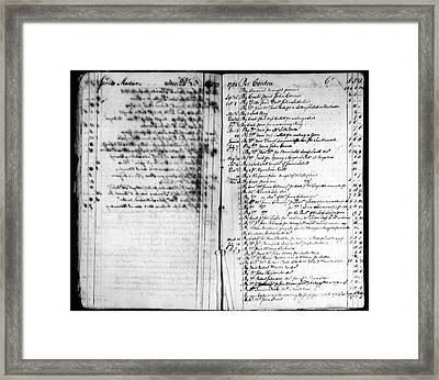 Madison: Account Book Framed Print by Granger