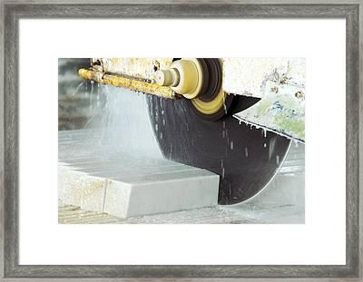 Marble Quarrying Framed Print by Ria Novosti