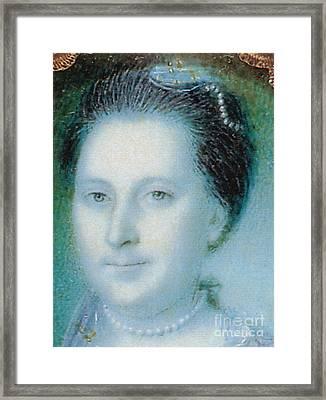Martha Washington, American Patriot Framed Print by Photo Researchers